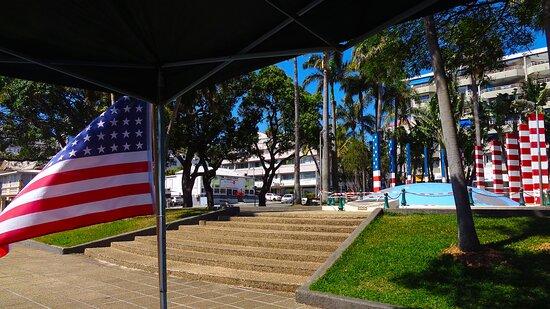 Noumea, Nueva Caledonia: ╭▥  🅰MERICAN JEEP ARMY CLUB - 🆄🆂 War Memorial ▥╮ Nouméa City - New Caledonia.
