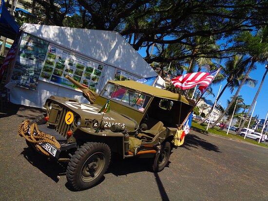 Noumea, Yeni Kaledonya: ╭🔶   🅰MERICAN 🅹EEP 🅰RMY 🅲LUB Exhibit - 🆄🆂 War Memorial 🔶╮ Nouméa City - New Caledonia.