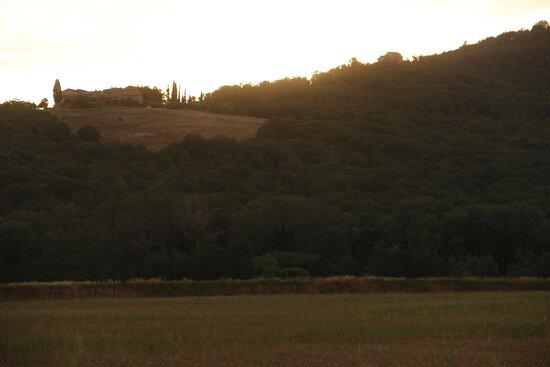 magnifique vue sur la campagne toscane !