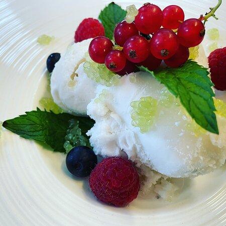 Mojito Eis mit limette Kaviar
