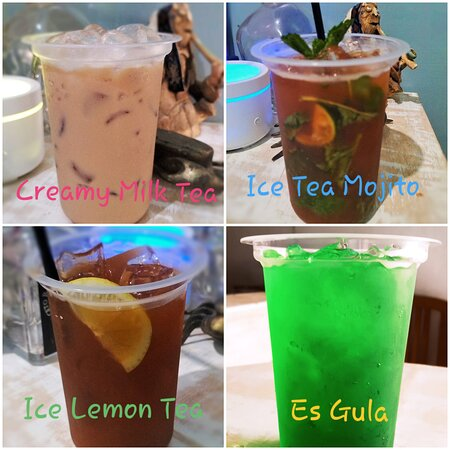 Denpasar, Endonezya: Aneka racikan minuman mocktail atau minuman tanpa alkohol, yang di racik oleh bartender profesional