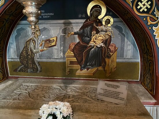 Tomb of the Queen Mary - the wife of King Stephen.