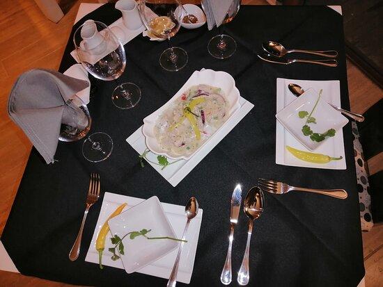 Ceviche de reineta con jengibre y palta