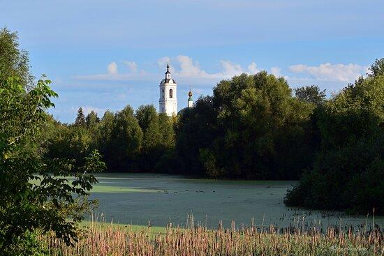 Коломна. Церковь Пресвятой Троицы на Репне. Вид со стороны прудов