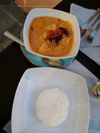 🇹🇭Red Curry Chicken con riso🇹🇭