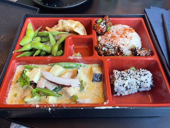 Our first time at Noka, great food and super service. I had the delicious Bao Buns to start, followed by the Meat Bento Box (see photo) and the home made Churros for dessert, highly recommended
