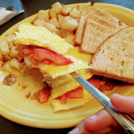 eggs potatoes Toast