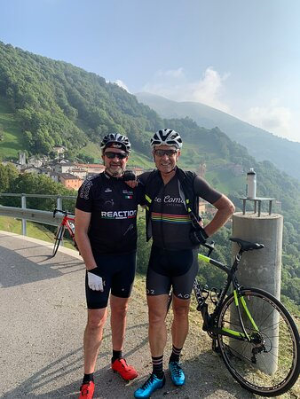 Lake Como cycling with Pietro