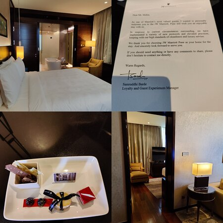 Personalised Welcome Note, Greeting Card & Desserts in The Executive Suite
