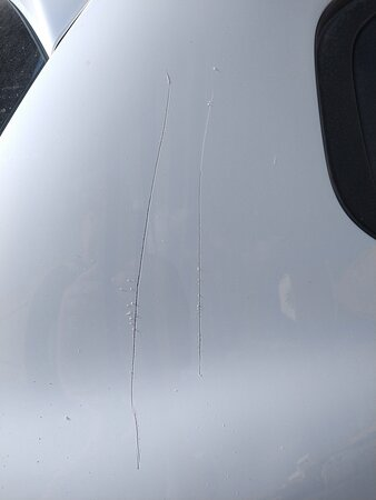 Car keyed by the owner