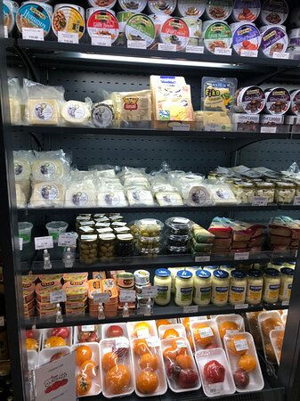 cheese, olives and other Turkish and Italian products!