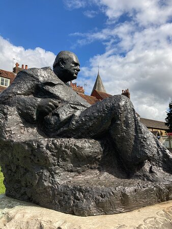 Statue of Sir Winston Churchill on The Green, Westerham, Kent