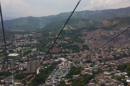Высоко над городом.