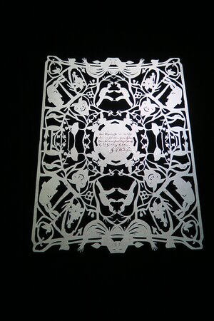 A copy of his paper cuttings