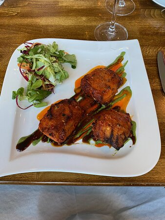 The Tandoori Dill Salmon. Generous portion of fish and cooked to perfection.