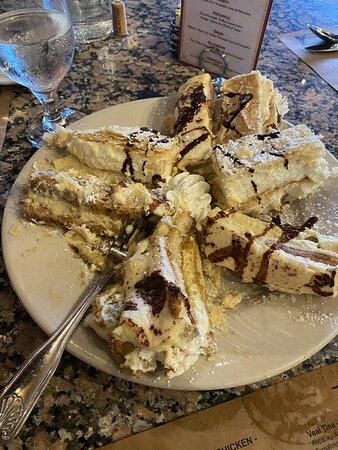 Absolutely delicious dessert platter with Tiramisu and Napoleon