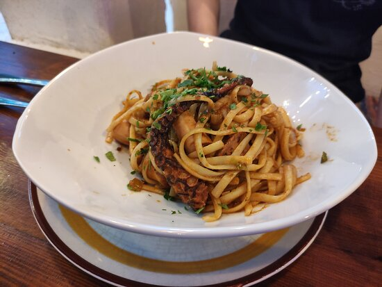 Pasta with octopus