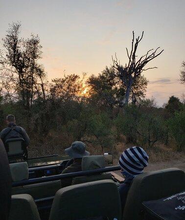Gorgeous sunrise on the bush ride