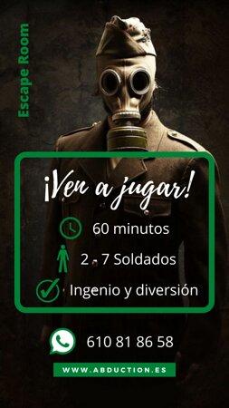 Ven a jugar y luchar en la guerra! ¿Eres el soldado que estamos buscando? www.abduction.es