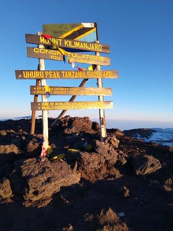 The Uhuru Peak of Mt Kilimanjaro. I reached it with Eligius on Aug 5, 2021.
