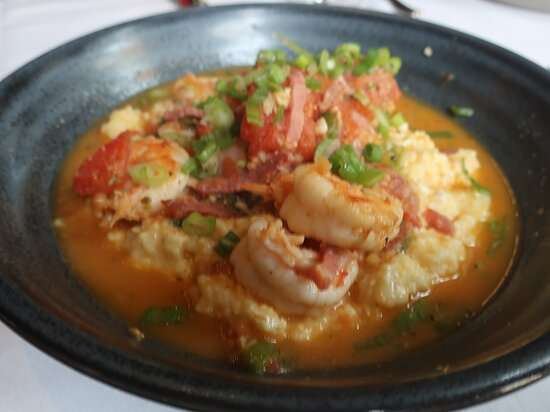 The Shrimp and Grits is an excellent dish