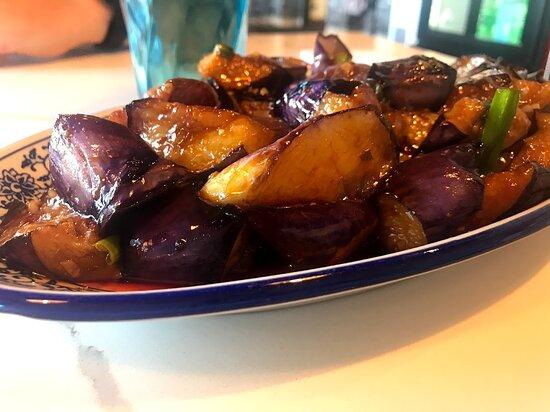 Eggplant with garlic sauce ($11.99)