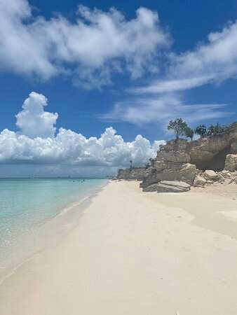 Full day 7hours- beach bbq, snorkel, Iguana island, half moon bay pine cay, Fun!: Can't beat the beauty of the private beaches