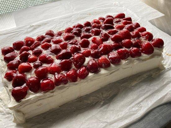 Occasionally we have strawberry cream cake 🎂