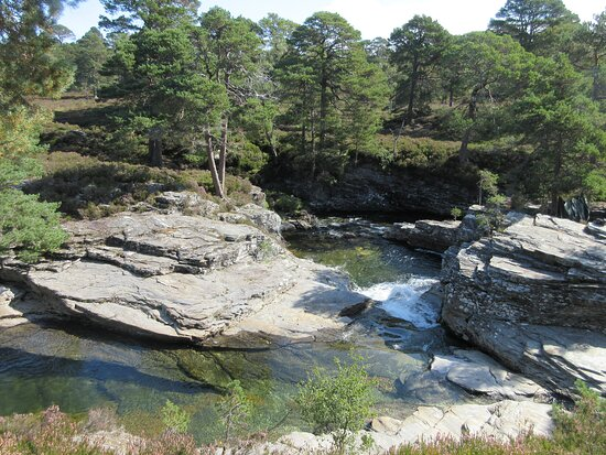 Linn of Dee seen from a well maintained footpath.