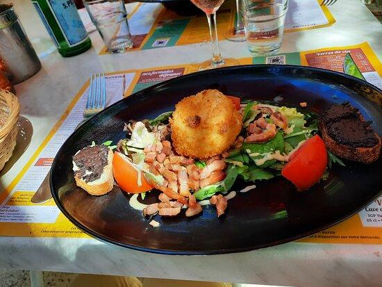 chèvre chaud salade