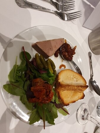 Starter of pate and toast - fine