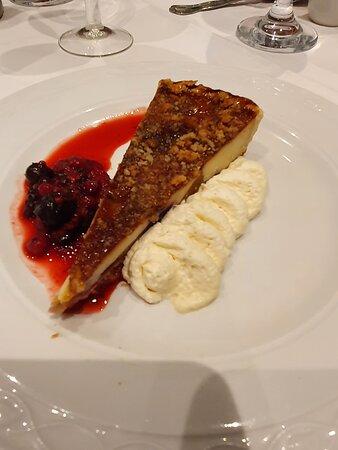 Dessert of lemon tart