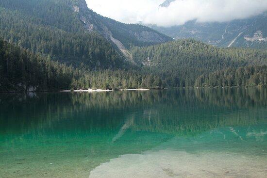 Lago di Tovel all'arrivo
