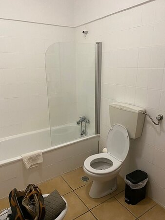 pommeau de douche impossible à fixer au mur et joint inexistant entre vitre et baignoire => l'eau innonde la salle de bains à chaque douche