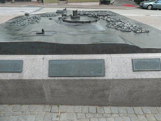 Bronsmodell ''gamla Helsingborg''