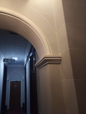 Restored architectural features in corridors