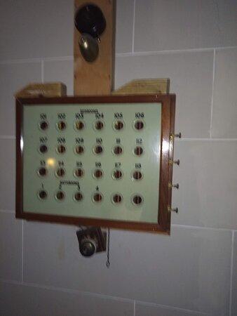 Sorry, a bit blurry. Original Victorian/Edwardian Butler Bell board