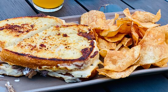Grilled cheese, Chicken Sandwich, Brisket Sandwich, Son of a Peaches Wife
