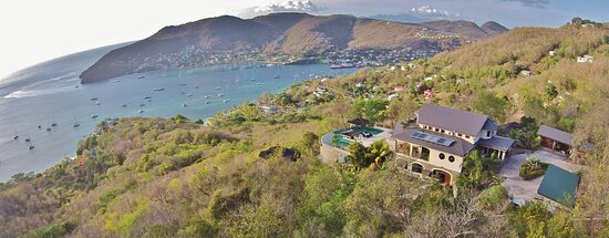Tropical Hideaway as seen from a drone
