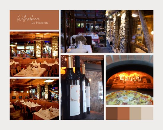 Walliserkanne restaurant and La piazzetta, Swiss and Italian speciality