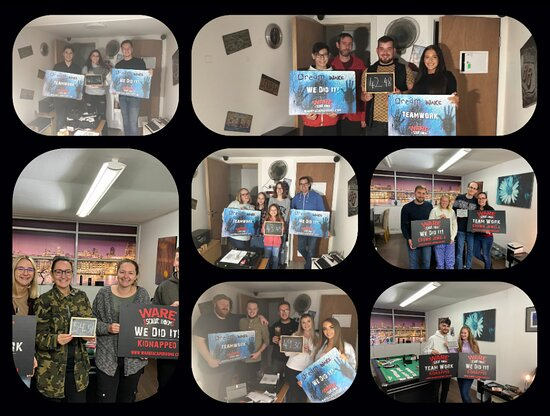 Well done to all of these teams 👏🏽 👏🏽  Dream - Wake at the College Arms event  Kidnapped - Ransom  #escaperoomgame #escaperoom #escaperooms #escape