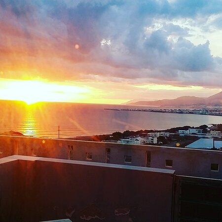 Ierapetra, Grekland: ηλιοβασίλεμα στο Λιβυκό Πέλαγος