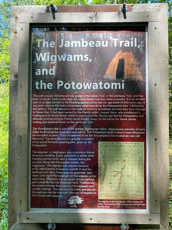 Display along the Old Indian Trail