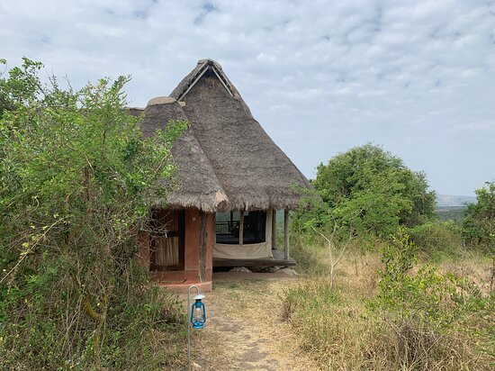 Lake Mburo National Park, Ουγκάντα: The outside of our bungalow/tent.