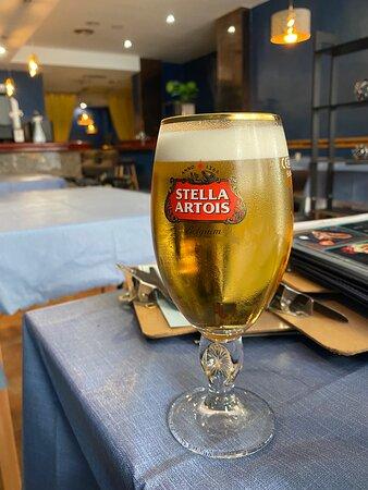We serve Stella Artois