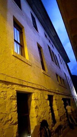 Lightening above alley way