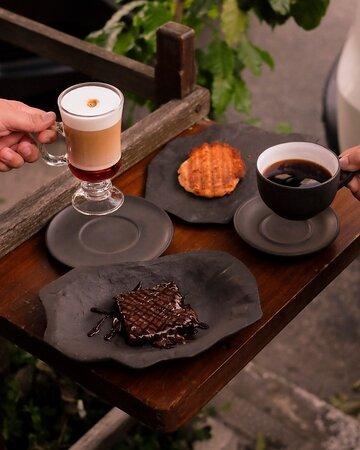 Café da tarde ao ar livre