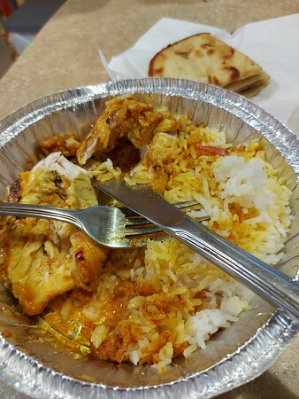 Ordered butter chicken for takeout and receieved this monstrosity. This is what a $23.50 meal gets you on this island on a Monday night. Blech! Finally can get close to a local restaurant and you get this crap. Has the chef ever had butter chicken I wonder?