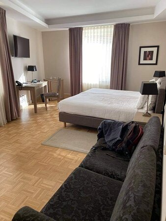 Rooms are comfy and spacious