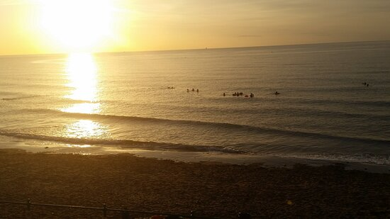 Early morning swimmers